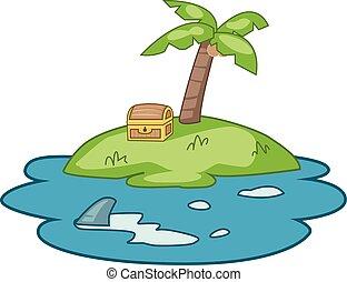 Treasure island illustration