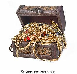 Treasure isolated on white background