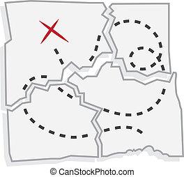 Treasure Map Ripped