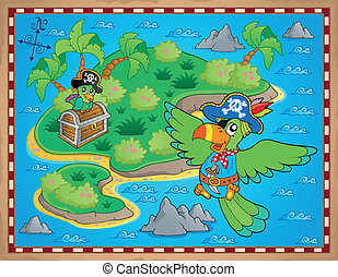 Treasure map theme image 9