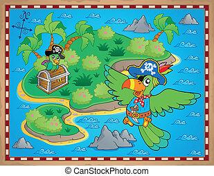 Treasure map theme image 9 - eps10 vector illustration.