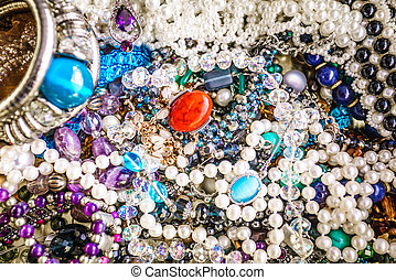 Treasure with old jewellery