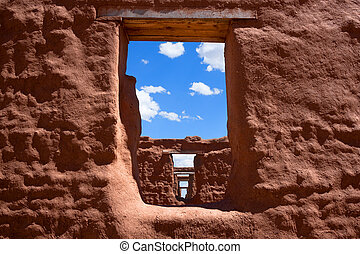Treasures of New Mexico - View through windows in a row of ...