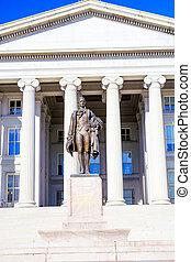 Treasury and Hamilton Statue, Washington DC