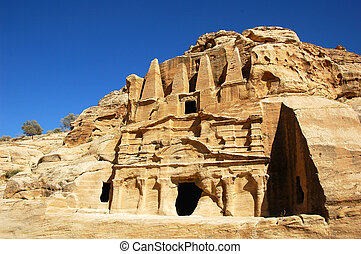 Treasury at Petra,Jordan - Scenery of the famous ancient...