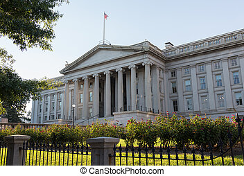 Treasury Building Washington DC - Treasury Building in...