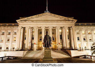 Treasury Department at Night