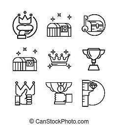 treasury icon set vector illustration design
