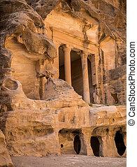 Treasury in Little city of Petra, Jordan