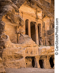 Treasury in Little city of Petra, Jordan