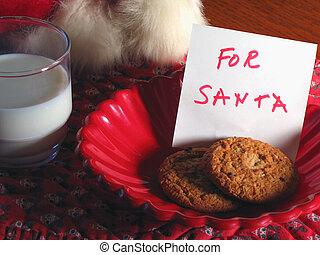 Treat For Santa - A treat waits for Santa on Christmas Eve