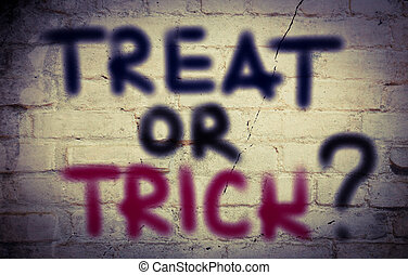 Treat Or Trick Concept