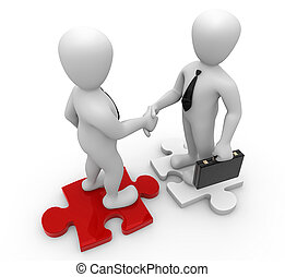 treatment - 3d image handshake