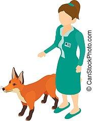 Treatment animal icon, isometric style