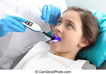 Treatment of the tooth, the dentist
