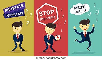 treatment., problem., infographic, conception, incontinence,...