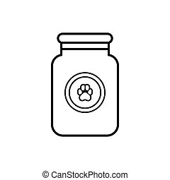 Treatment solution for animals icon, outline style