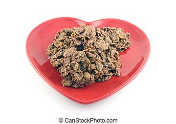 Treats on a Heart Shaped Plate
