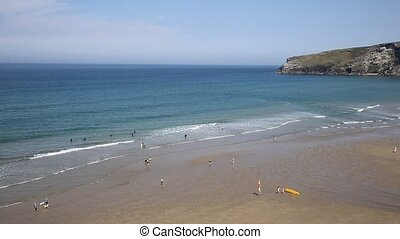 Trebarwith Strand beach Cornwall n - Trebarwith Strand beach...