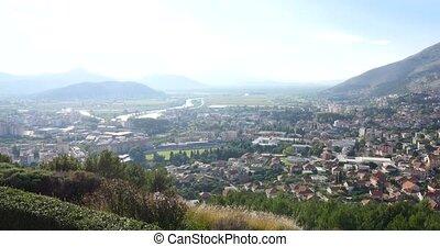 Trebinje city view from above. Bosnia and Herzegovina