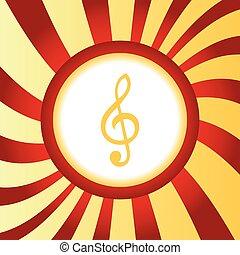 Treble clef abstract icon