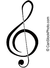 Treble Clef - an illustration of a musical treble clef ...