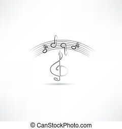 treble clef and music