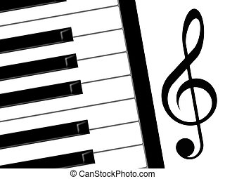 treble clef and piano