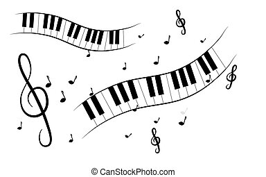 Treble clef background - White background with treble clef...