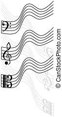 treble clef, bass clef, viola,