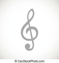 Treble clef black icon