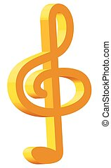 Treble clef icon for various design