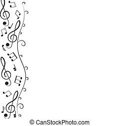 Treble clef for your design. A vector illustration