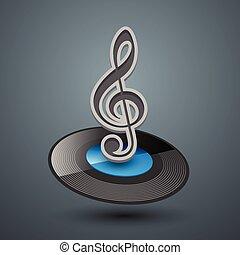Treble clef icon.