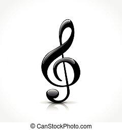 treble clef, ikon