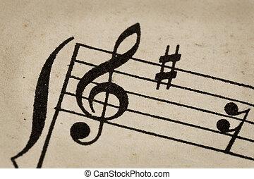 treble clef - music concept