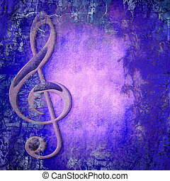 treble clef musical colorful background with copy space for...