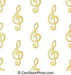 Treble clef pattern