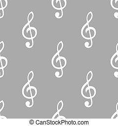 Treble clef seamless pattern