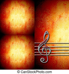 treble clef staff background - musical background with ...