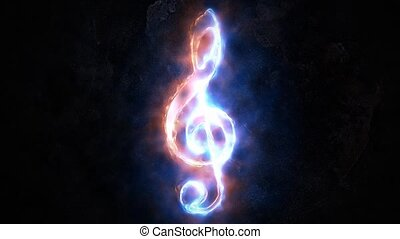 Treble clef. The concept of sound. 30. - Treble clef. The...