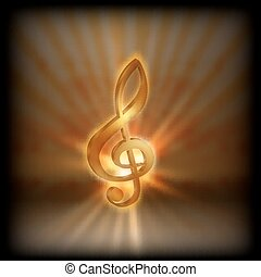 treble clef with blurred background