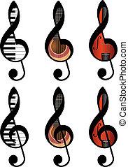 treble, clefs