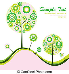 Tree abstract background, vector