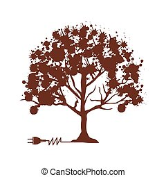 tree abstract icon image