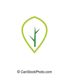 tree abstract simple logo vector
