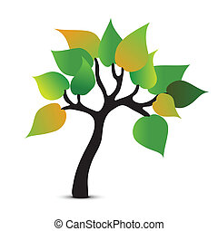 Tree abstract symbol. Vector icon