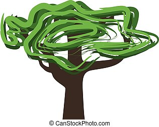 tree abstract vector illustration isolated