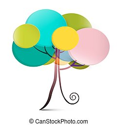 Tree - Abstract Vector Tree