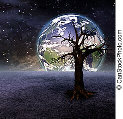 Tree and earth